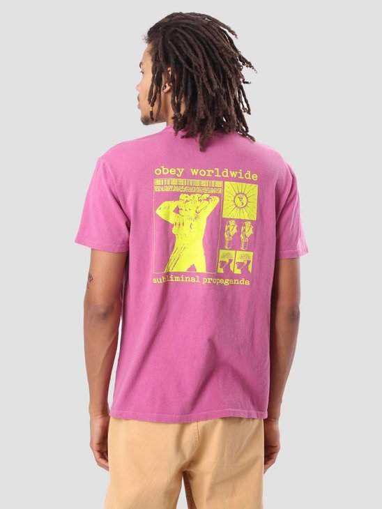 Obey Subliminal Propaganda Basic Pigment T-Shirt Dusty Magenta 166721725