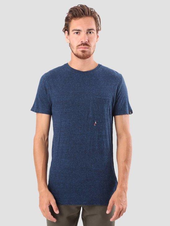 RVLT Sverre Printed T-Shirt Navy 1954