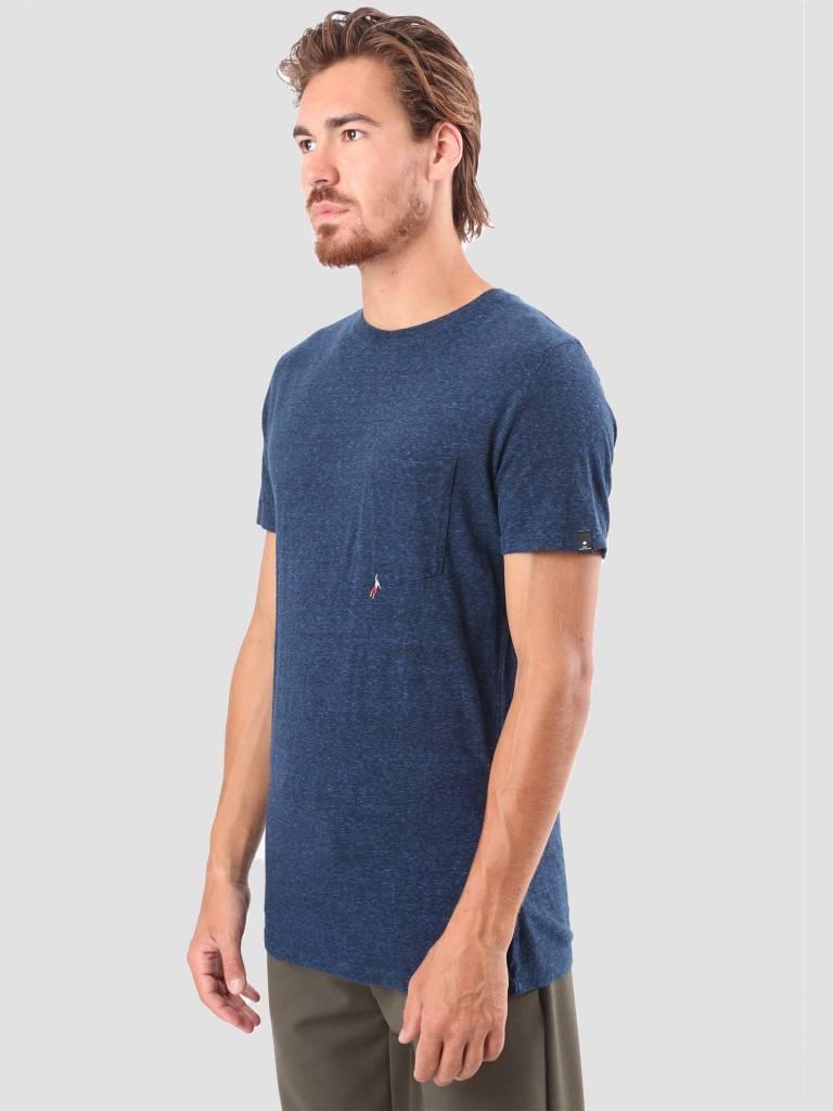 RVLT RVLT Sverre Printed T-Shirt Navy 1954