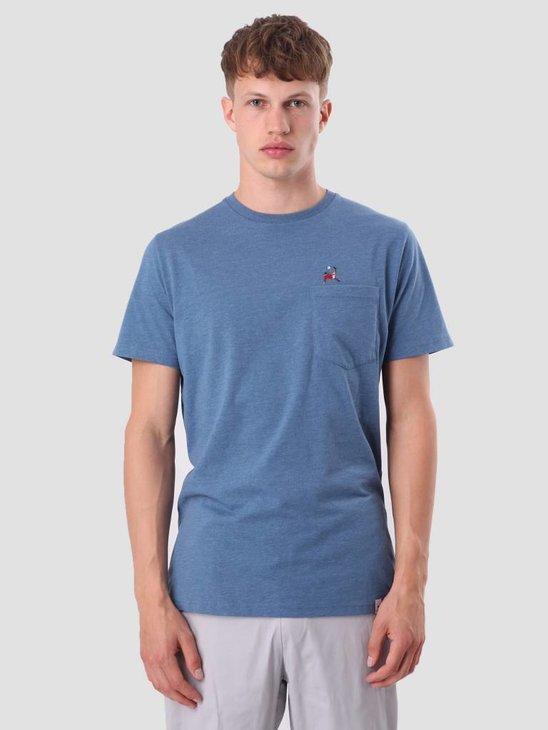 RVLT Sverre T-Shirt Blue-Mel 1979 ROO