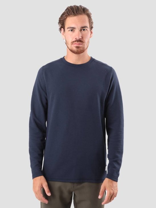 RVLT Tage Long Sleeved T-Shirt Navy 1970