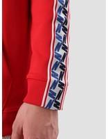 Nike Nike Taped Half Zip Hood Poly University Red Gym Blue Sail Aj2296-657