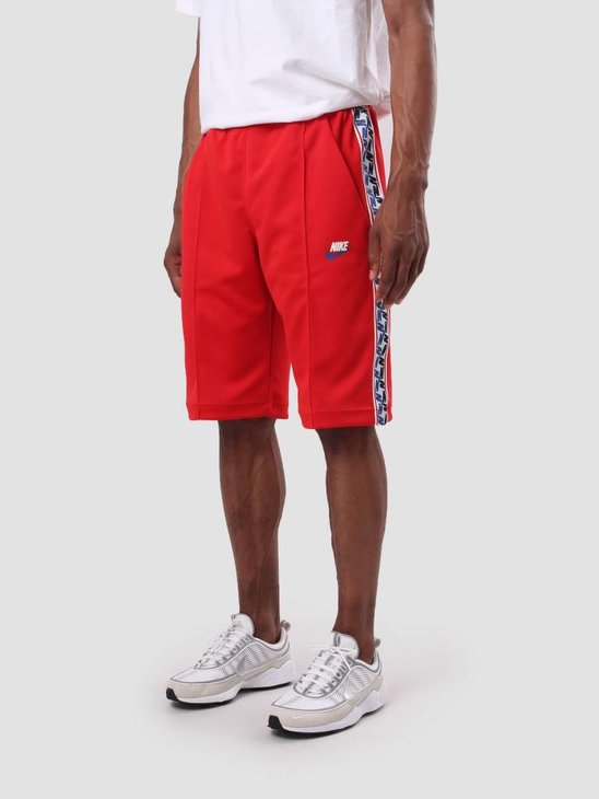 Nike Taped Short Poly University Red Sail Ao0860-657