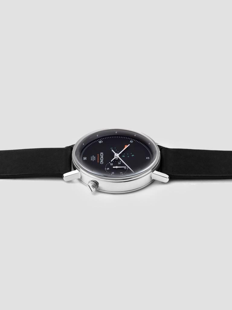 Komono Komono The Walther Retrograde Watch Silver Black Kom-W4030