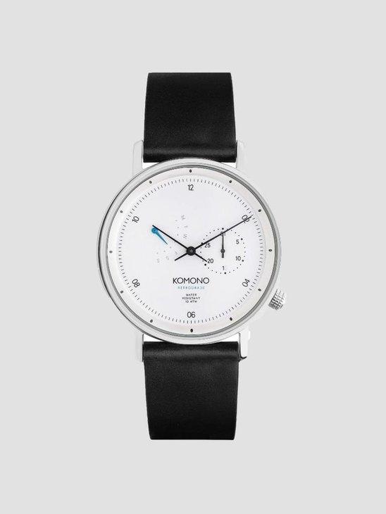 Komono The Walther Retrograde Watch White Gold Kom-W4032
