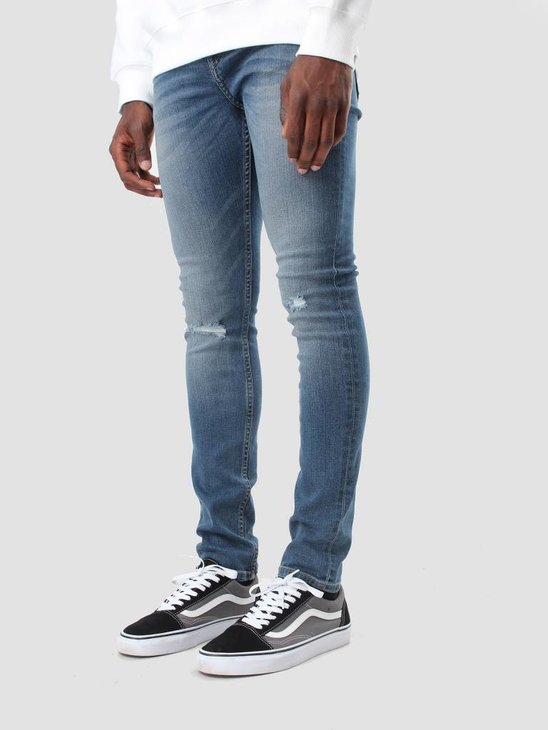 Cheap Monday Tight Denim Jeans Serene Blue 0379563