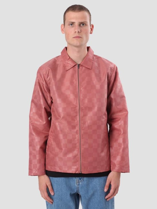 Stussy Tonal Check Jacket Rose 115401