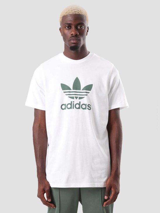 adidas Trefoil T-Shirt White Tragrn DH5773