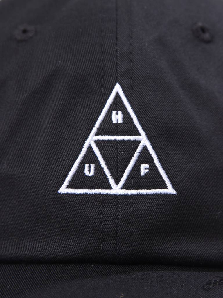 HUF HUF Triple Triangle Curved Visor Hat Black HT00178