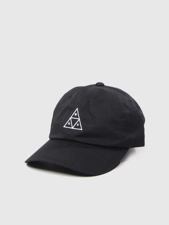 HUF Triple Triangle Curved Visor Hat Black HT00178