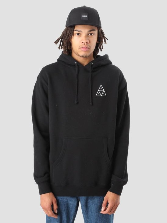 HUF Triple Triangle Pullover Fleece Black Flbsc0020