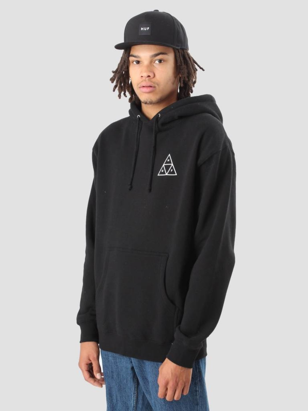 HUF HUF Triple Triangle Pullover Fleece Black Flbsc0020