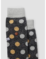 Alfredo Gonzales Alfredo Gonzales Twisted Wool Dots Socks Black Yellow Light Grey AG-Sk-TWDOT-01