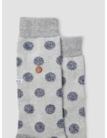 Alfredo Gonzales Alfredo Gonzales Twisted Wool Dots Socks Light Grey Navy AG-Sk-TWDOT-01