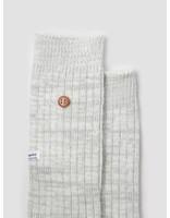 Alfredo Gonzales Alfredo Gonzales Twisted Wool Plain Socks Grey White AG-Sk-TW-08