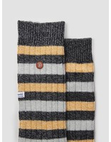 Alfredo Gonzales Alfredo Gonzales Twisted Wool Stripes Socks Black Yellow Light Grey AG-Sk-TWSTR-01