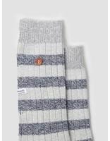 Alfredo Gonzales Alfredo Gonzales Twisted Wool Stripes Socks Light Grey Navy Grey AG-Sk-TWSTR-01