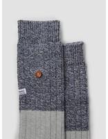 Alfredo Gonzales Alfredo Gonzales Twisted Wool Two Tone Socks Light Grey Navy AG-Sk-TW2-01