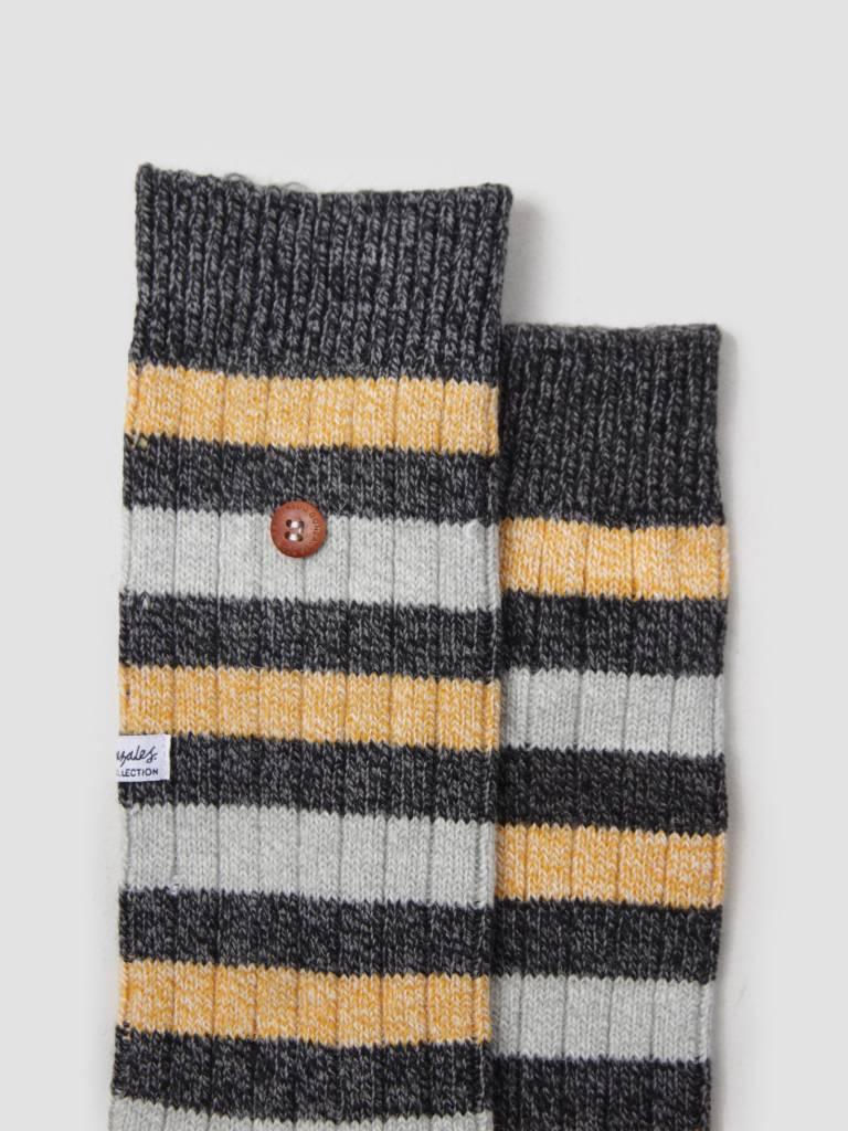Alfredo Gonzales Alfredo Gonzales Twisted Wool Two Tone Socks Yellow Black AG-Sk-TW2-01