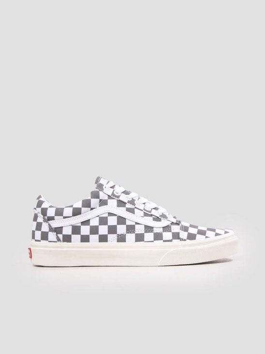 Vans Ua Old Skool Checkerboard Pewter Marshmallow VN0A38G1U531