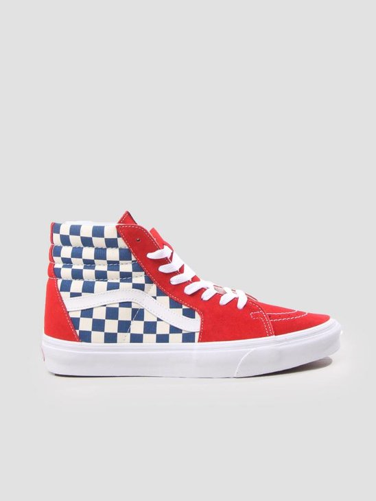 Vans UA SK8-Hi Bmx Checkerboard True Blue Red VN0A38GEU8H1