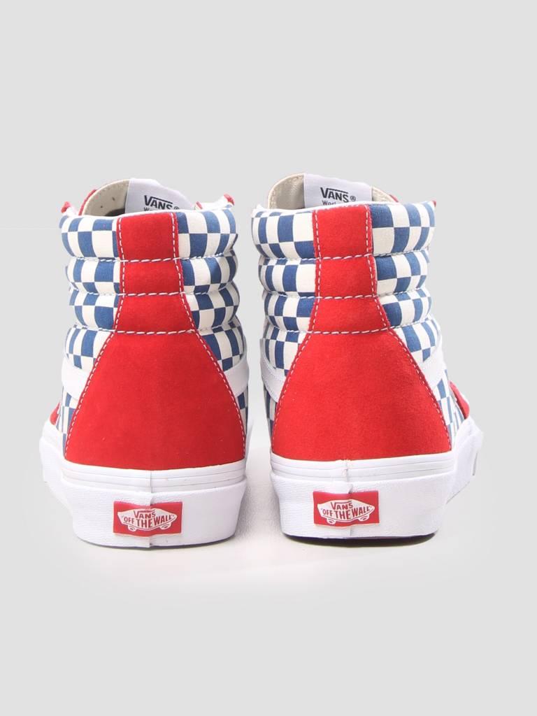 Vans Vans UA SK8-Hi Bmx Checkerboard True Blue Red VN0A38GEU8H1