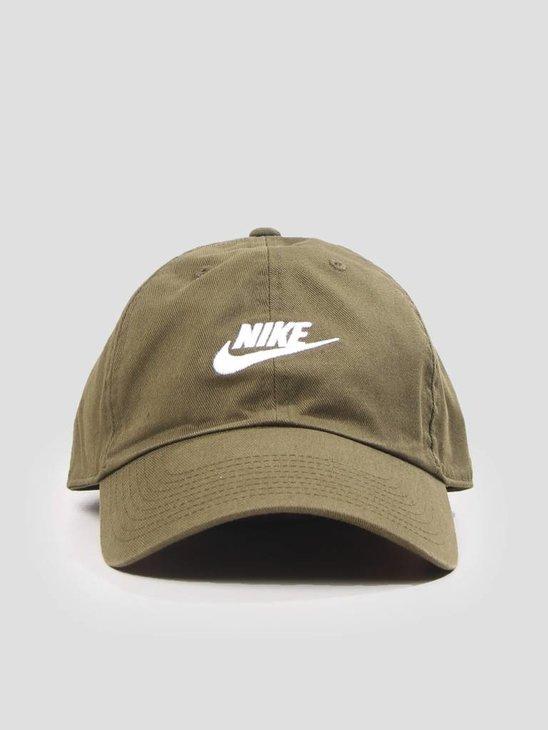 Nike Unisex  Sportswear H86 Cap Olive Canvas Olive Canvas White 913011-395