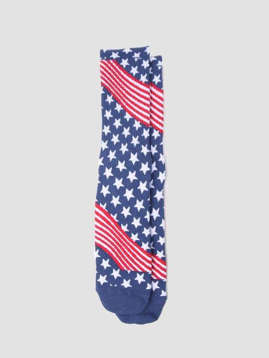 HUF USA Socks Red SK00325