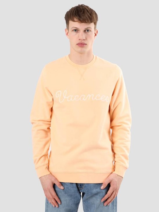 Ceizer Vacances Embroidery Crewneck Peach S18-22