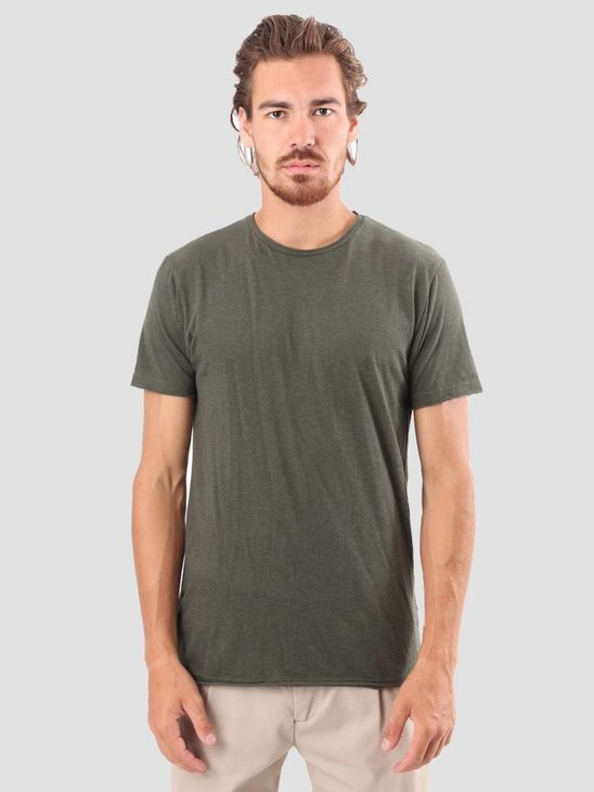 RVLT Vilfred T-Shirt Army Mel 1003