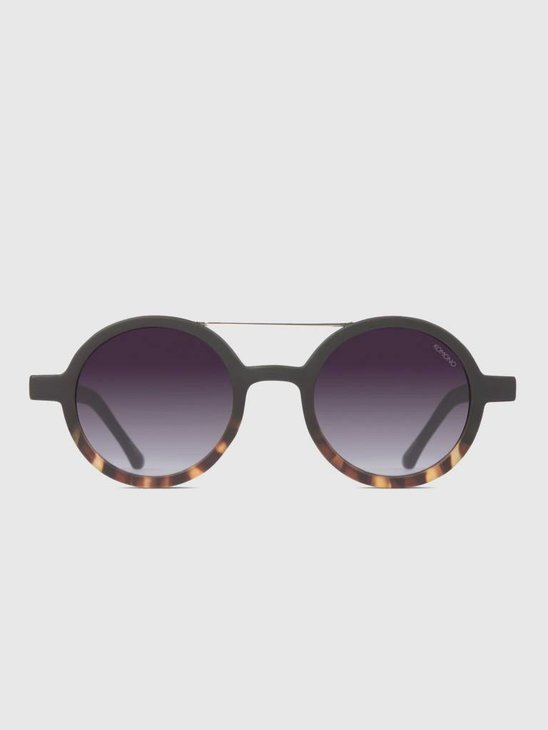 Komono Vivien Matte Black Tortoise Sunglasses KOM-S2126