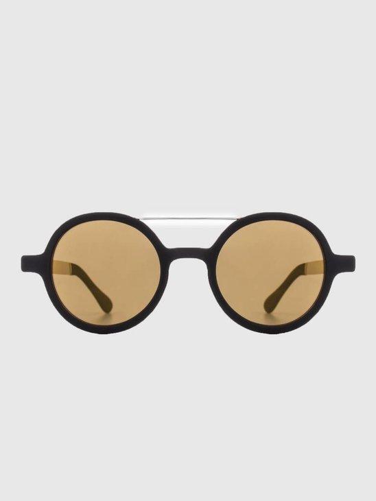 Komono Vivien Sunglasses Metal Black Gold Kom-S2112