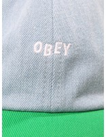 Obey Obey Wardlow 6 Panel Snapback Green 100580128