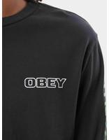 Obey Obey Warning Longsleeve Dusty Black 166731811