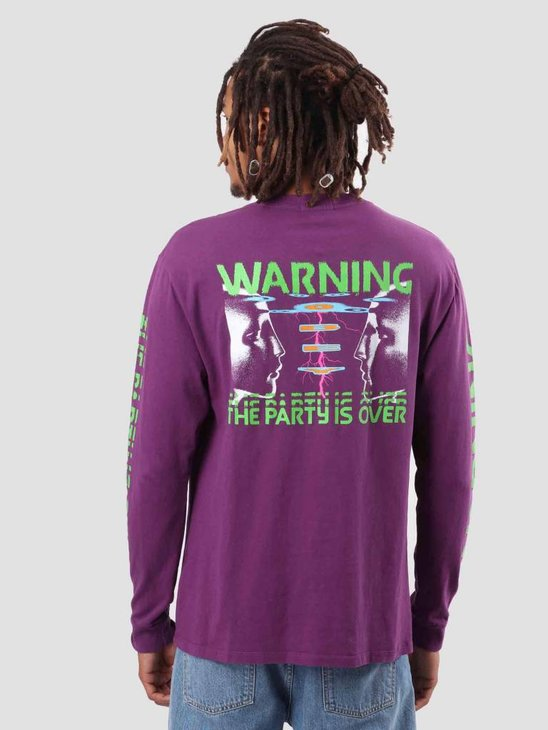 Obey Warning Longsleeve Dusty Grape 166731811