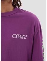Obey Obey Warning Longsleeve Dusty Grape 166731811