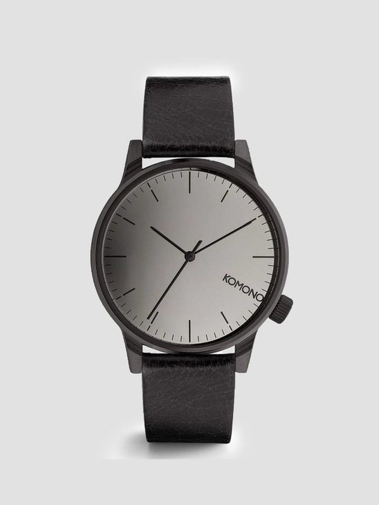 Komono Winston Mirror Watch Black/Black Kom-W2890