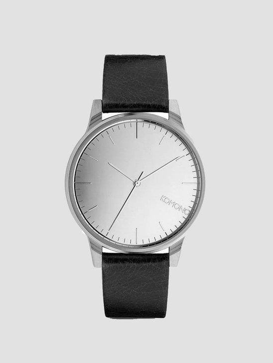 Komono Winston Mirror Watch Silver/Black Kom-W2892