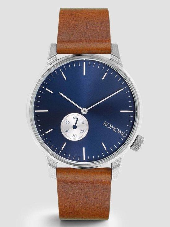 Komono Winston Sub Blue Cognac Watch KOM-W3003