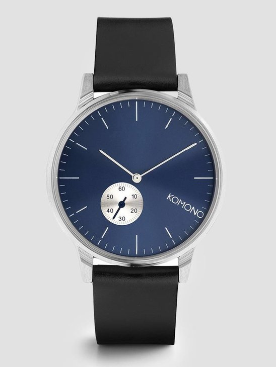 Komono Winston Subs Watch Silver Blue KOM-W3001