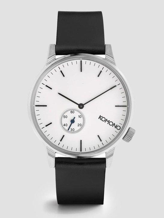 Komono Winston Subs Watch Silver White KOM-W3002