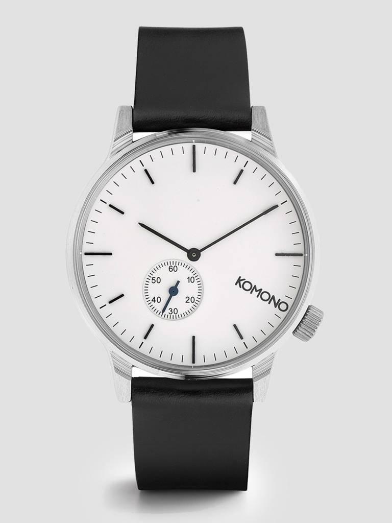 Komono Komono Winston Subs Watch Silver White KOM-W3002