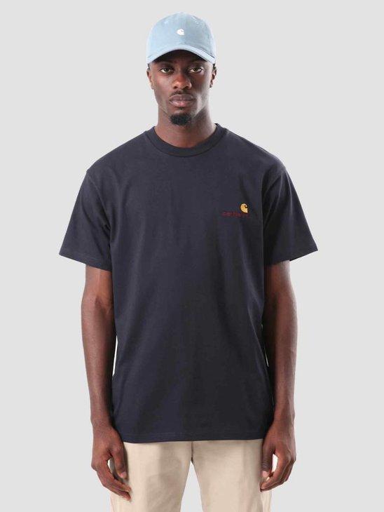 Carhartt American Script T-Shirt Dark Navy I025711-1C00