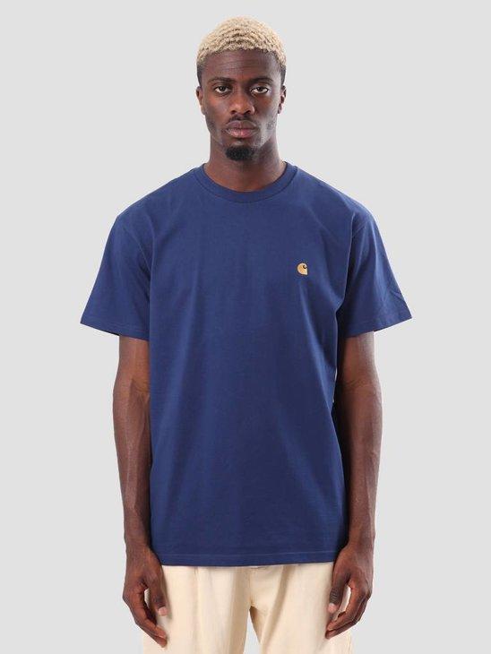 Carhartt Chase T-Shirt Metro Blue Gold I026391-S090