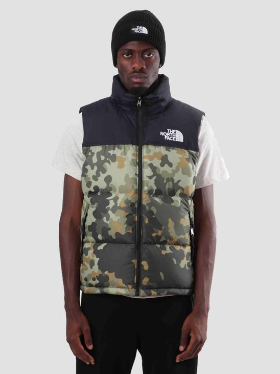 The North Face 1996 SSNL Nuptse VST New Taupe Green Mcrflkpt