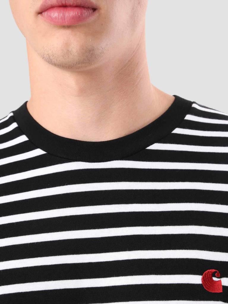 Carhartt Carhartt Robie T-Shirt Stripe Black White Blast Red I022004-8991