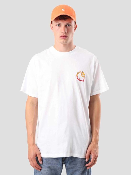 Carhartt WIP Burning C T-Shirt White I025760-200