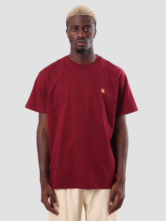 Carhartt WIP Chase T-Shirt Mulberry Gold I026391-88490
