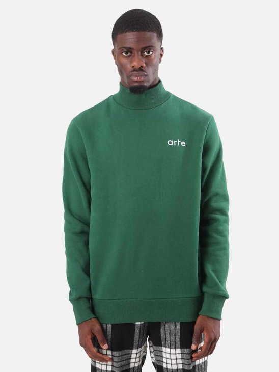 Arte Antwerp Carter Heavy Turtleneck Green AW18-042