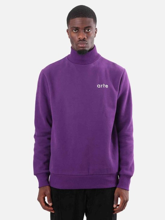 Arte Antwerp Carter Heavy Turtleneck Purple AW18-042